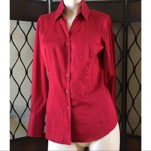 Antonio Melani Christmas Red Blouse
